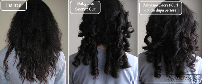 babyliss secret curl inainte dupa