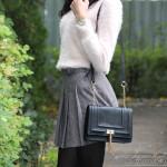 Cald si bine: pulover pufos si fusta plisata