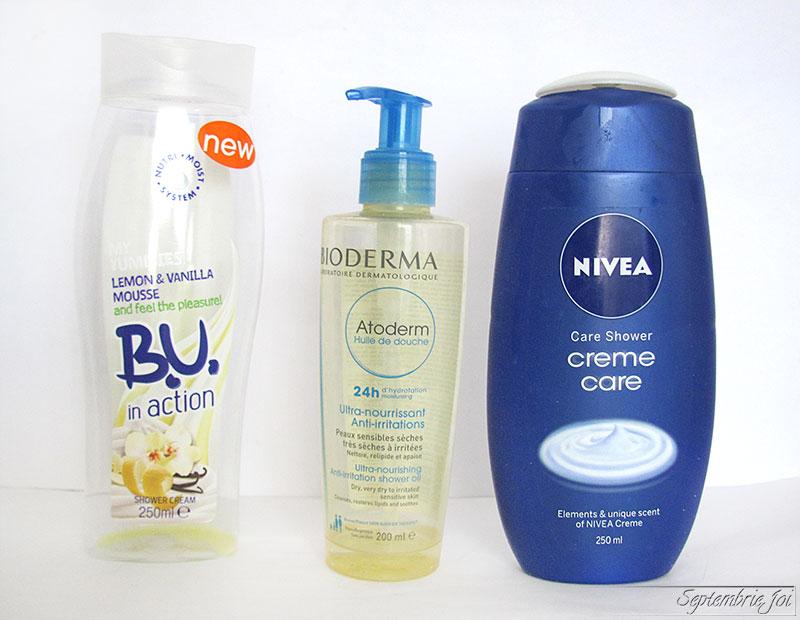 gel-de-dus-nivea-B.U.-Shower-smoothie-bioderma-atoderm