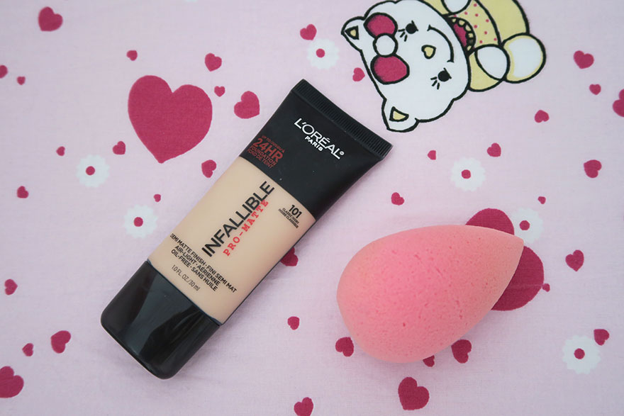 review fond de ten l oreal infallible pro matte septembriejoi